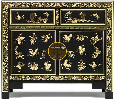 Black Gilt Decorated Chinese Medium Sideboard image 2