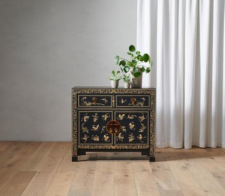 Black Gilt Decorated Chinese Medium Sideboard image 4