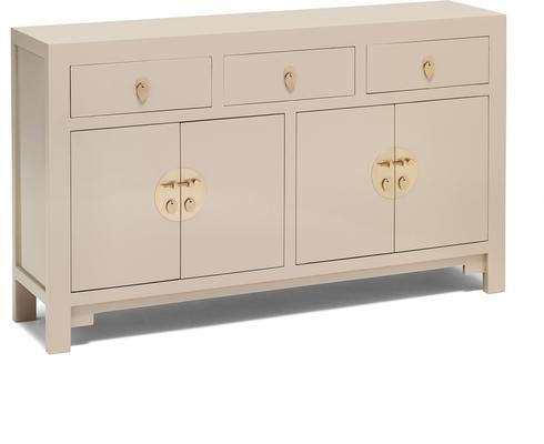 Large Classic Chinese Sideboard - Oyster Grey