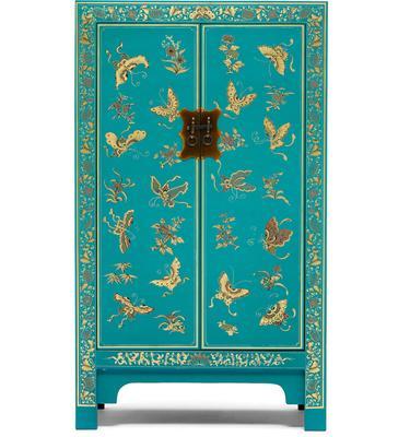 Medium Classic Chinese Cabinet - Blue image 2