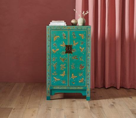 Medium Classic Chinese Cabinet - Blue image 4
