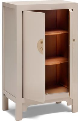 Medium Classic Chinese Cabinet - Oyster Grey image 3