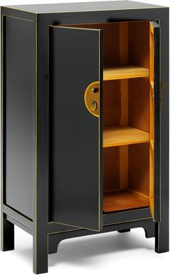 Medium Classic Chinese Cabinet - Black image 4