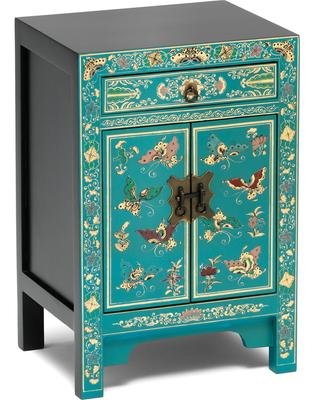 Small decorated classic chinese cabinet blue for Best brand of paint for kitchen cabinets with holders for candles