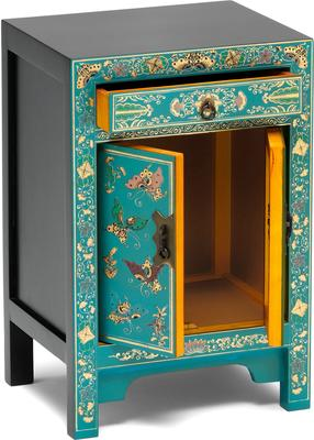 Small Decorated Classic Chinese Cabinet - Blue image 3