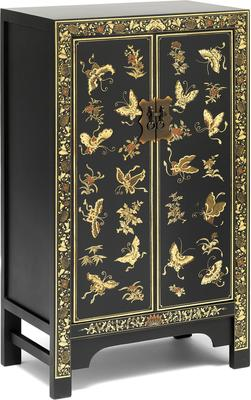Medium Decorated Classic Chinese Cabinet - Black