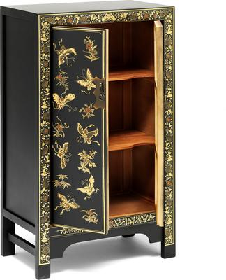 Medium Decorated Classic Chinese Cabinet - Black image 3