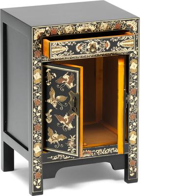 Small Decorated Classic Chinese Cabinet - Black image 3