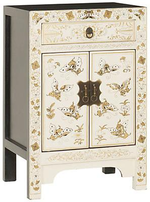 White Decorated Chinese Cabinet  Small image 2