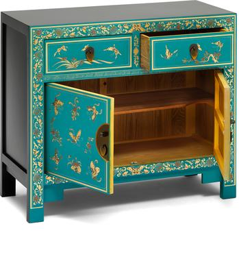 Oriental decorated blue sideboard image 3