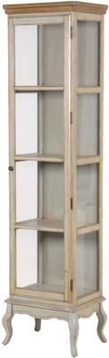 Vintage Look Tall Glass Cabinet