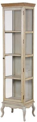 Vintage Look Tall Glass Cabinet image 2