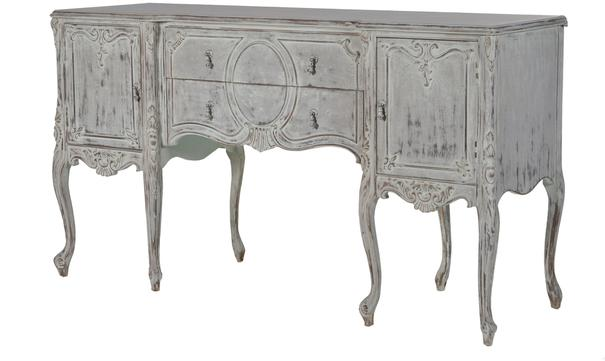 Elaborate Carved French Sideboard