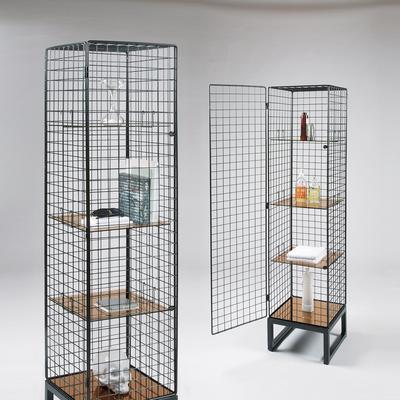 Narrow Wire Mesh Cabinet