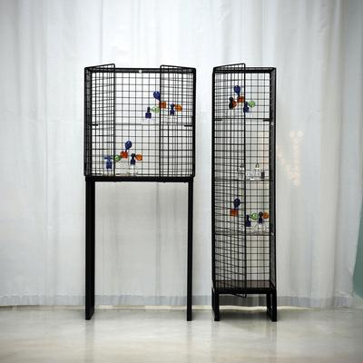 Narrow Wire Mesh Cabinet image 3