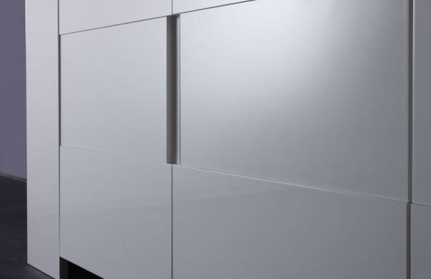 Fano High Sideboard White Gloss Lacquered with LED Spotlight image 4