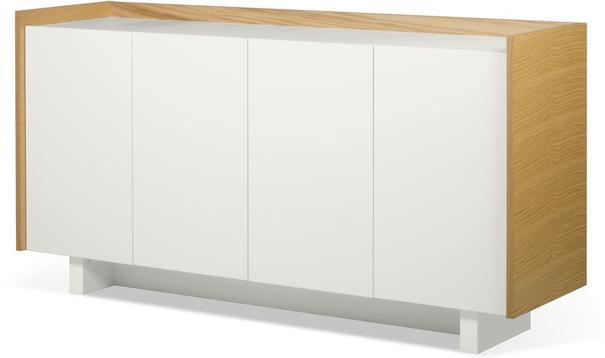 TemaHome Skin Sideboard Four Doors Matt White with Oak Surround image 2