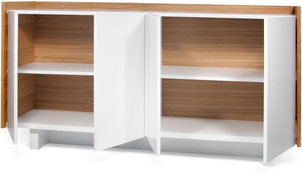 TemaHome Skin Sideboard Four Doors Matt White with Oak Surround image 4
