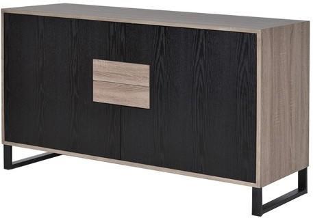 Natural Oak/Black Veneer Sideboard image 2