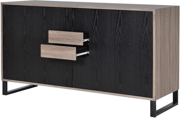 Natural Oak/Black Veneer Sideboard image 3