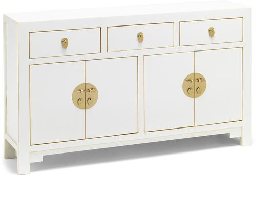 Large Classic Chinese Sideboard - White