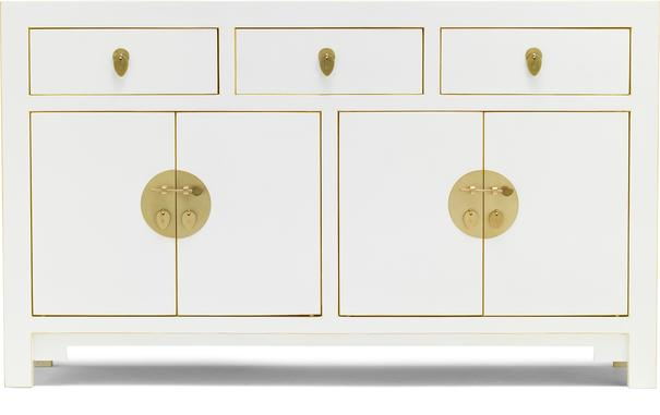 Large Classic Chinese Sideboard - White image 2
