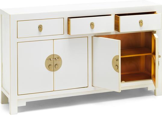Large Classic Chinese Sideboard - White image 3