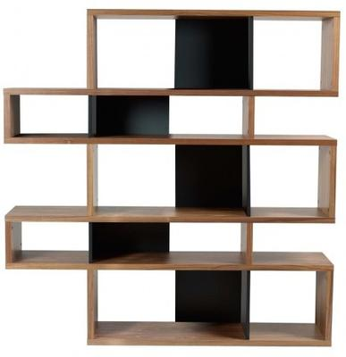 TemaHome London Contemporary Display Unit - Walnut, Black or White image 2