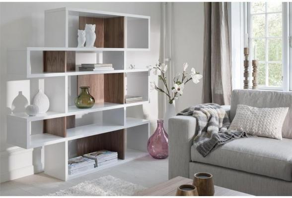 TemaHome London Contemporary Display Unit - Walnut, Black or White