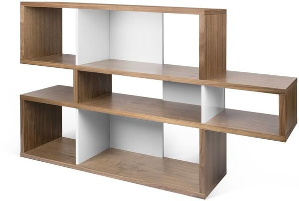 TemaHome London Contemporary Display Unit - Walnut, Black or White image 7