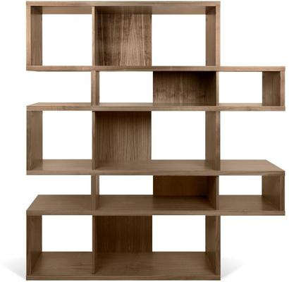 TemaHome London Contemporary Display Unit - Walnut, Black or White image 9
