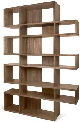 TemaHome London Contemporary Display Unit - Walnut, Black or White image 10