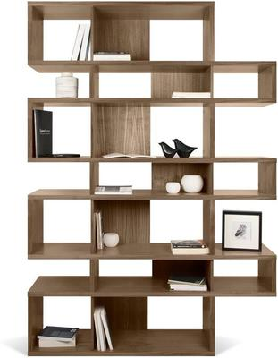 TemaHome London Contemporary Display Unit - Walnut, Black or White image 12