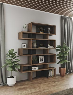 TemaHome London Contemporary Display Unit - Walnut, Black or White image 13