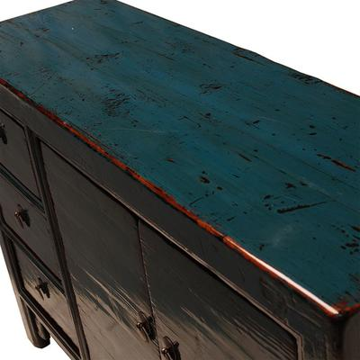 Teal Lacquer Sideboard with Three Drawers image 4