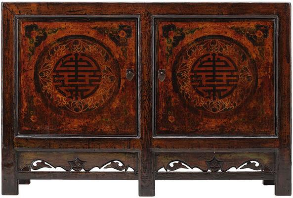 Painted Sideboard with Good Luck Symbols image 2