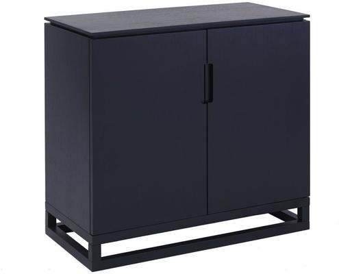 Cordoba Modern Low Sideboard Two Doors - Black Wenge