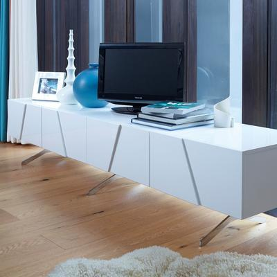 Glacier Low Media TV Sideboard Gloss White image 2