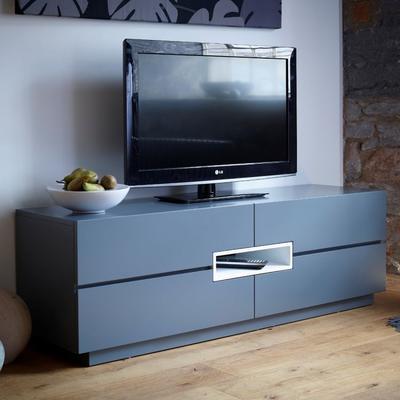 Savoye Low TV Sideboard Matt Graphite Grey image 2