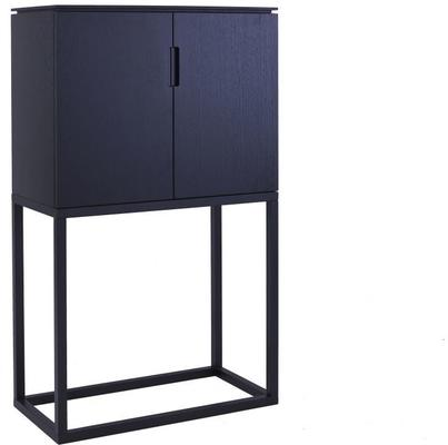 Cordoba Modern Large Tall Sideboard - Black Wenge