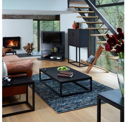 Cordoba Modern Small Tall Sideboard - Black Wenge image 2