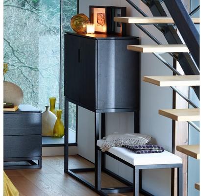 Cordoba Modern Small Tall Sideboard - Black Wenge image 3