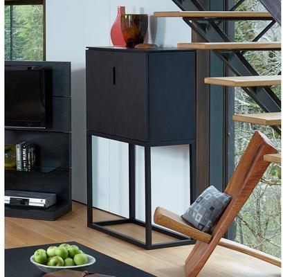 Cordoba Modern Small Tall Sideboard - Black Wenge image 4