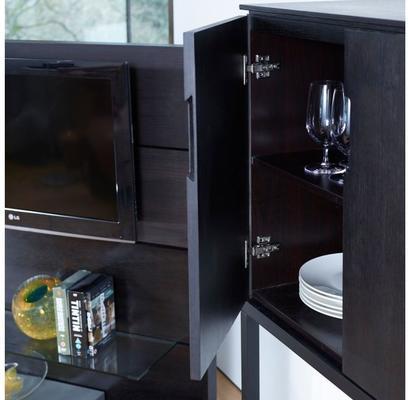 Cordoba Modern Small Tall Sideboard - Black Wenge image 5