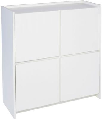 Essentials Modern Square Sideboard - Matt White Lacquer