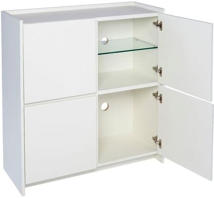 Essentials Modern Square Sideboard - Matt White Lacquer image 2