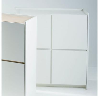 Essentials Modern Square Sideboard - Matt White Lacquer image 3