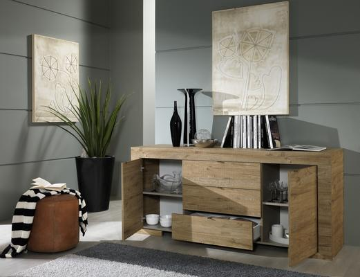 Milano Collection Sideboard in Rovere Miele oak image 3