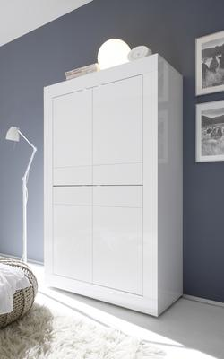 Urbino Collection Four Door High Sideboard - Gloss White Finish