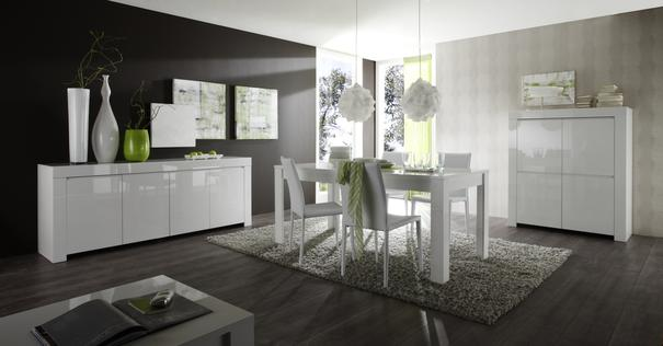Rimini Collection Four Door Sideboard - White Gloss image 4